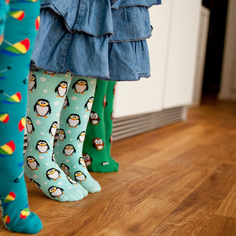 Slugs & Snails Organic Children's Tights - Penguins, Tights, Slugs & Snails, Baby goes Retro - Baby goes Retro