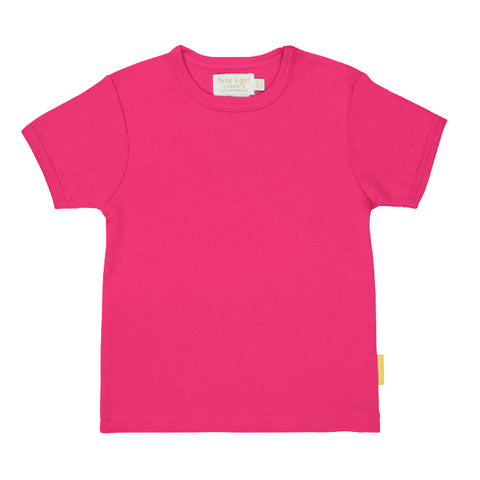 Toby Tiger Organic Basic s/s Tee - Pink