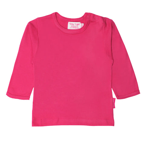 Toby Tiger Organic Basic l/s Tee - Pink, Tee, Toby Tiger, Baby goes Retro - Baby goes Retro