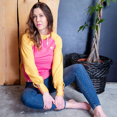 All I Adore - My Favourite Organic Hoodie - Bright Gold/Pink