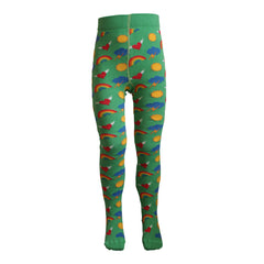 Slugs & Snails Organic Children's Tights - Retro - Green, Tights, Slugs & Snails, Baby goes Retro - Baby goes Retro