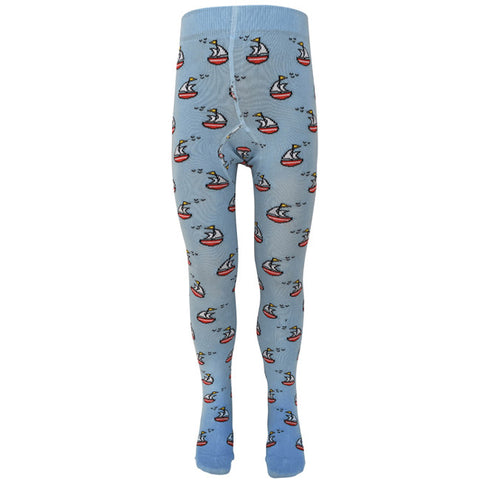Slugs & Snails Organic Children's Tights - Sailboats, Tights, Slugs & Snails, Baby goes Retro - Baby goes Retro