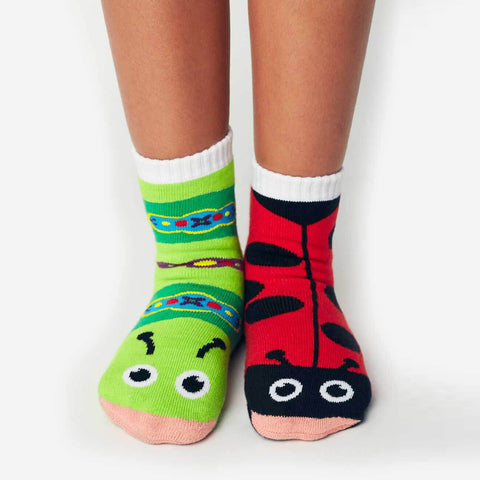 Pals Socks - Ladybug & Caterpillar - Kids collectible mismatched socks