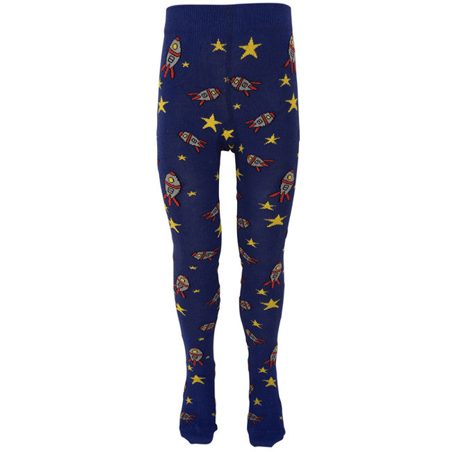 Slugs & Snails Organic Children's Tights - Out of this world Space rocket, Tights, Slugs & Snails, Baby goes Retro - Baby goes Retro