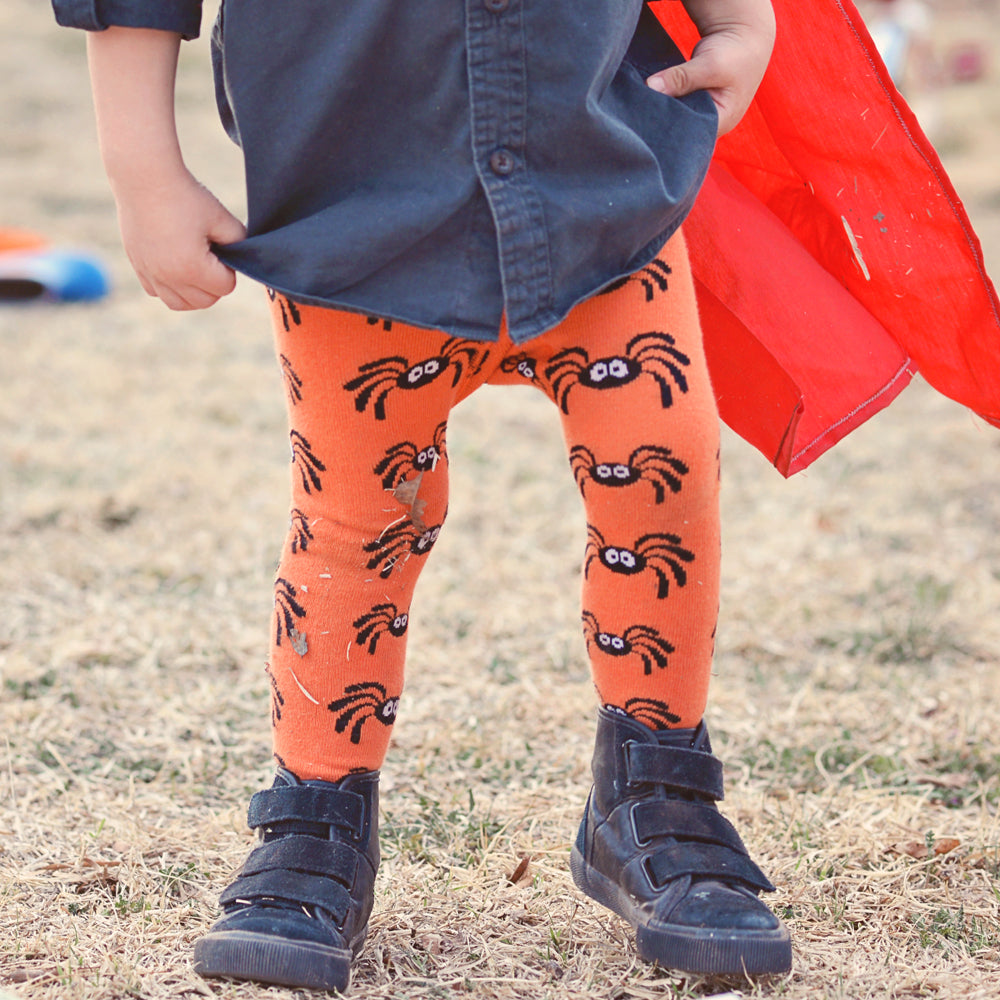 Slugs & Snails Organic Children's Tights - Ivor Spider