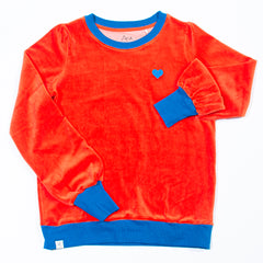 All I Adore - The Sweatshirt For A Cosy Day - Spicy Orange Velour