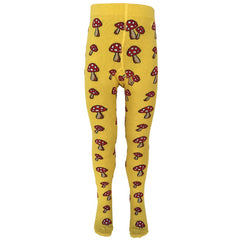 Slugs & Snails Organic Children's Tights - Toadstools - Yellow, Tights, Slugs & Snails, Baby goes Retro - Baby goes Retro