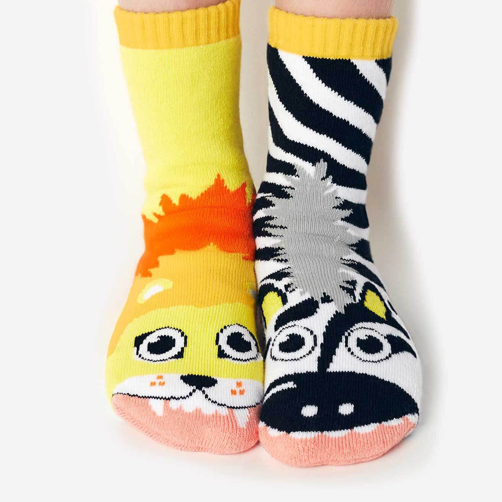 Pals Socks - Lion & Zebra - Kids collectible mismatched socks, Socks, Pals Socks, Baby goes Retro - Baby goes Retro