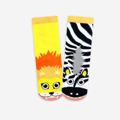 Pals Socks - Lion & Zebra - Kids collectible mismatched socks