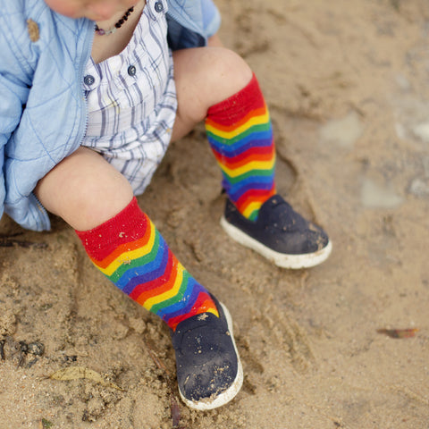 Pride Socks Casual Toddler & Kids Socks - ZigZag, socks, Pride Socks, Baby goes Retro - Baby goes Retro