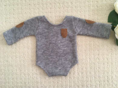 Bailey Grey Newborn Romper