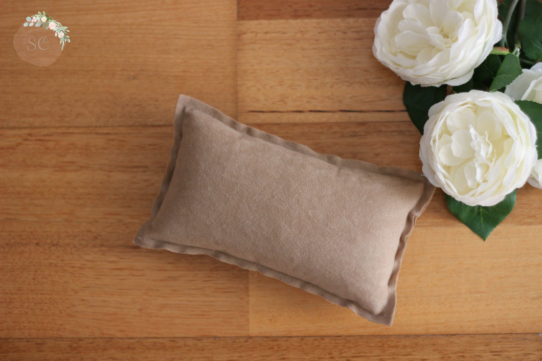 Faux Suede Newborn Pillow