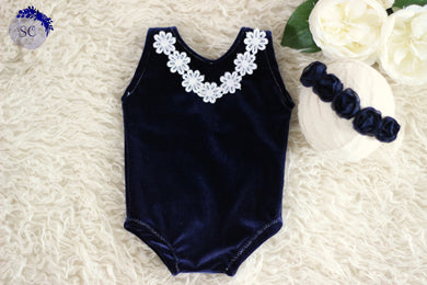 Billie Navy Newborn Set