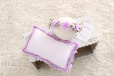 Lilac Newborn Pillow & Organic Headband Set