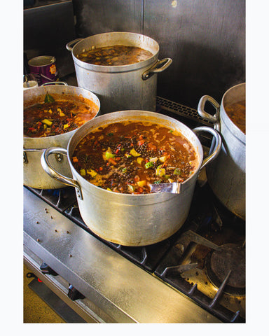 Pans of delicious plant-based stews bubble away in Gemma's kitchen. The steam rising from the pots makes you feel like you can almost smell the amazing brews as they reduce to perfection.