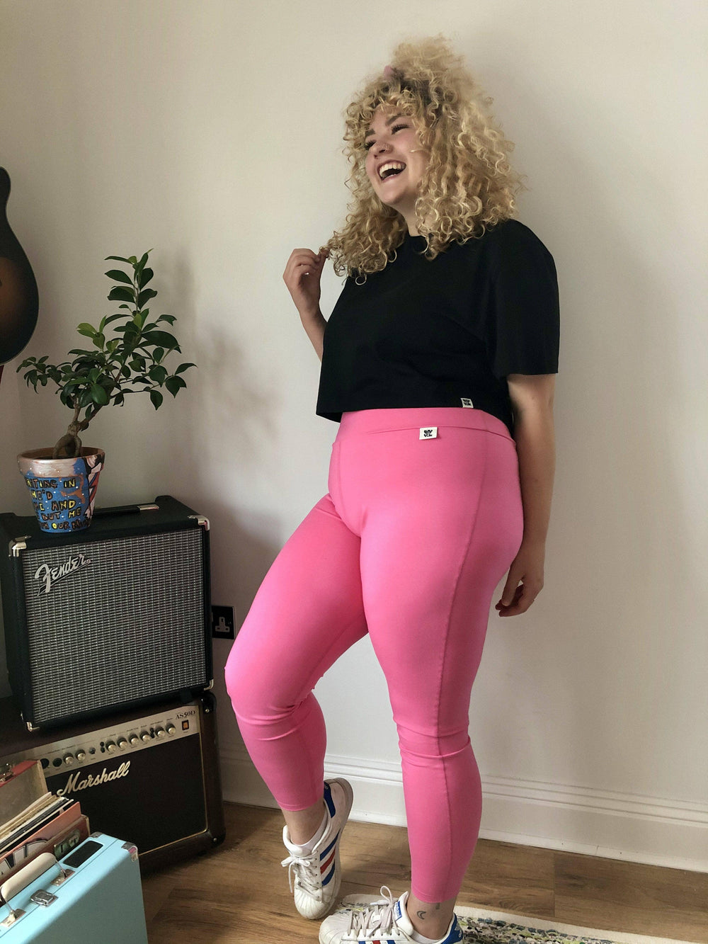 Lucy & Yak Leggings 'Wye' Tencel Leggings in Pink