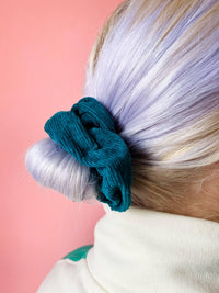 Lucy & Yak accessories Hair Scrunchies In Teal