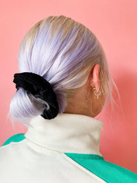 Lucy & Yak accessories Hair Scrunchie in Black