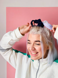 Lucy & Yak accessories Hair Scrunchie in Sailor Blue