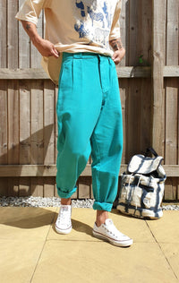 Lucy & Yak jeans The Sundaze Collection - 'Addison' High Waisted Organic Cotton Twill Jeans in Jade