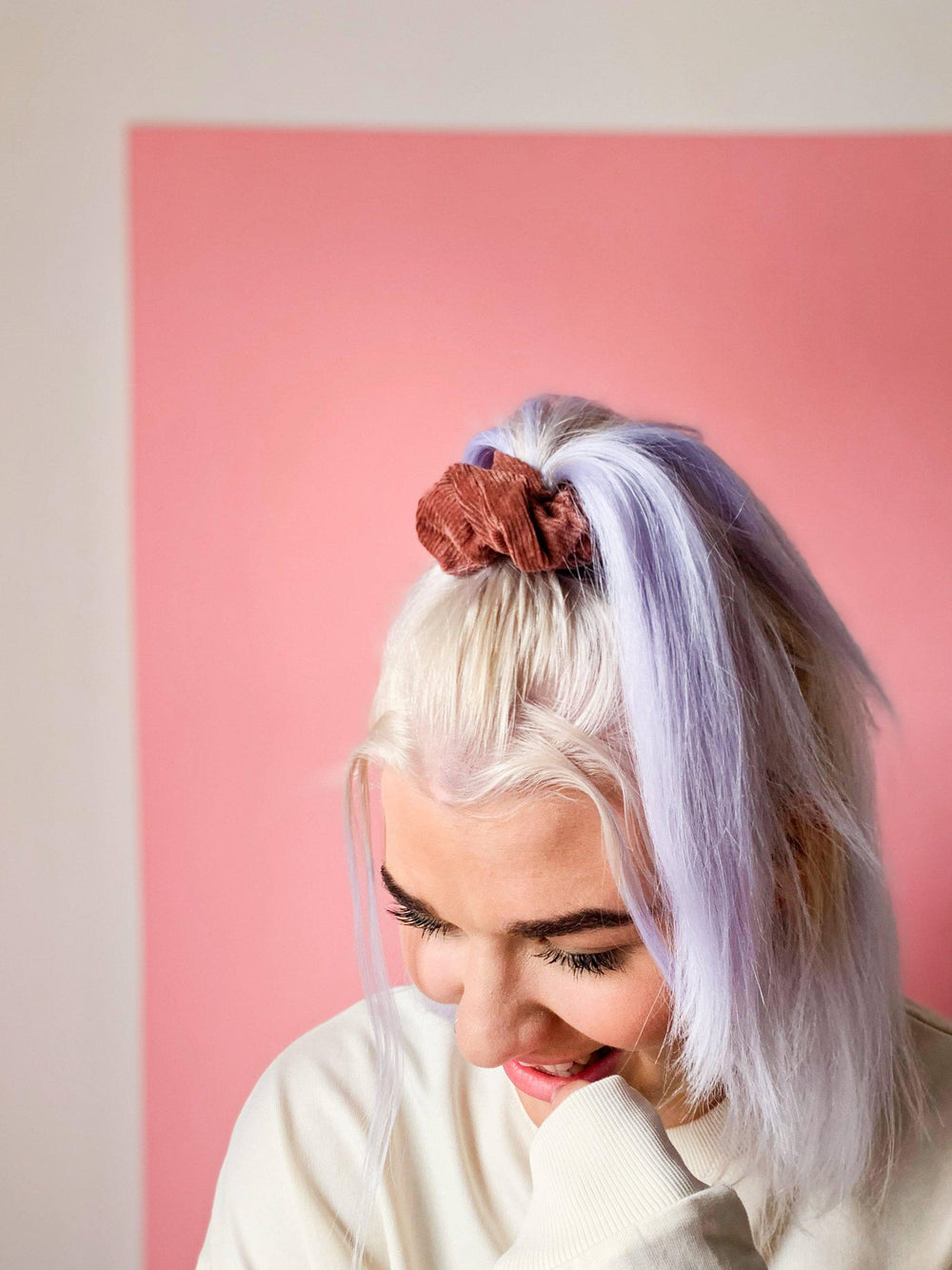 Lucy & Yak accessories Hair Scrunchies In Ash Pink