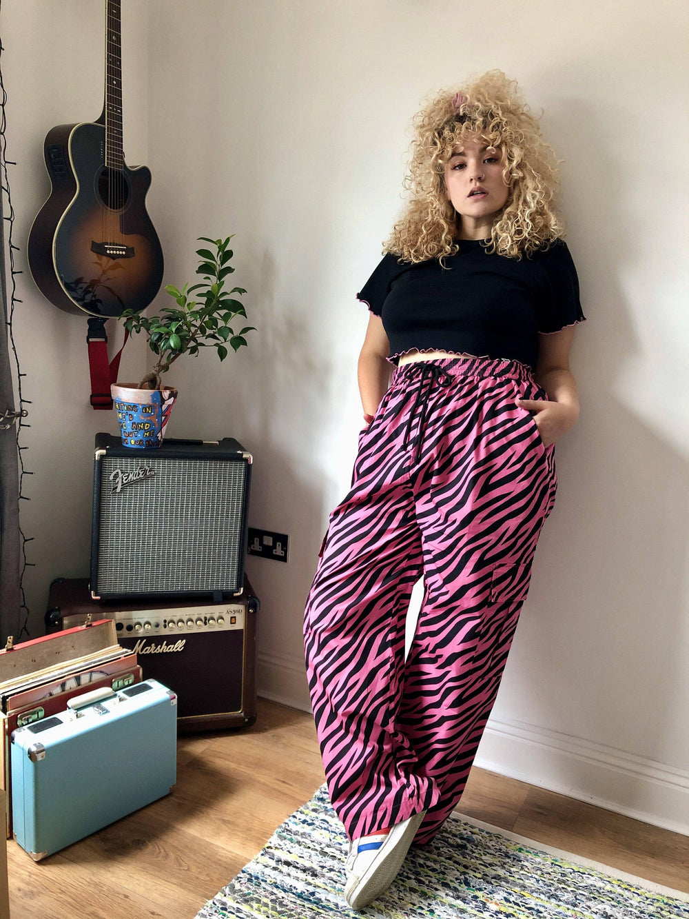 Lucy & Yak trousers Matchu Cargo Pants In Striped Zebra Print