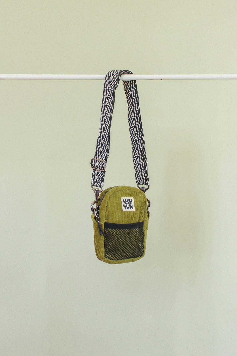 Lucy & Yak Bag 'Brady' Mini Cross Body Pouch Bag in Olive Corduroy