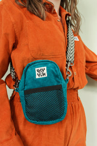 Lucy & Yak Bag 'Brady' Mini Cross Body Pouch Bag in Organic Teal Corduroy