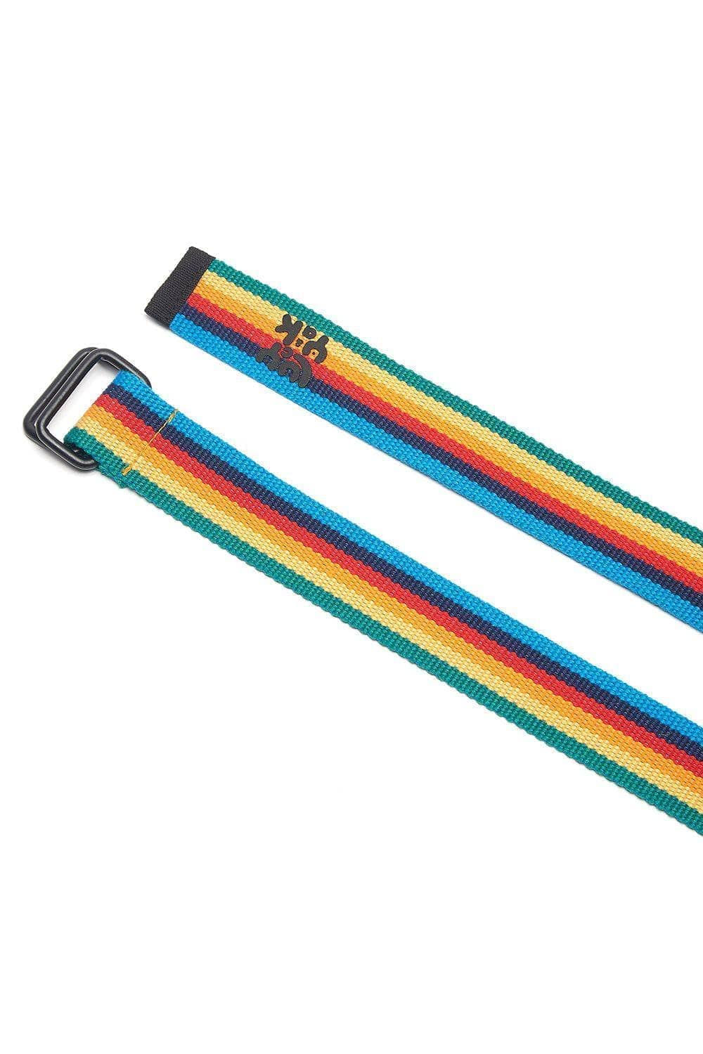 Lucy & Yak Belt Flynn Webbing Belt In Rainbow Stripe