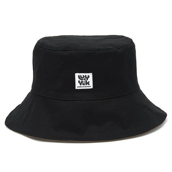Lucy & Yak Hat Made In Britain Bucket Hat In Black & Olive