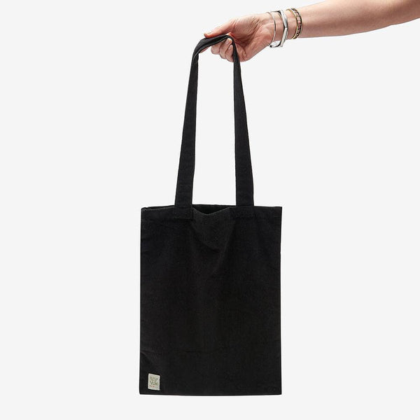 Lucy & Yak Bag ♻️'Idly' Recycled Corduroy Tote Bag in Black ♻️