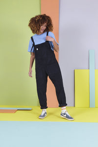 Charcoal Cotton Dungarees
