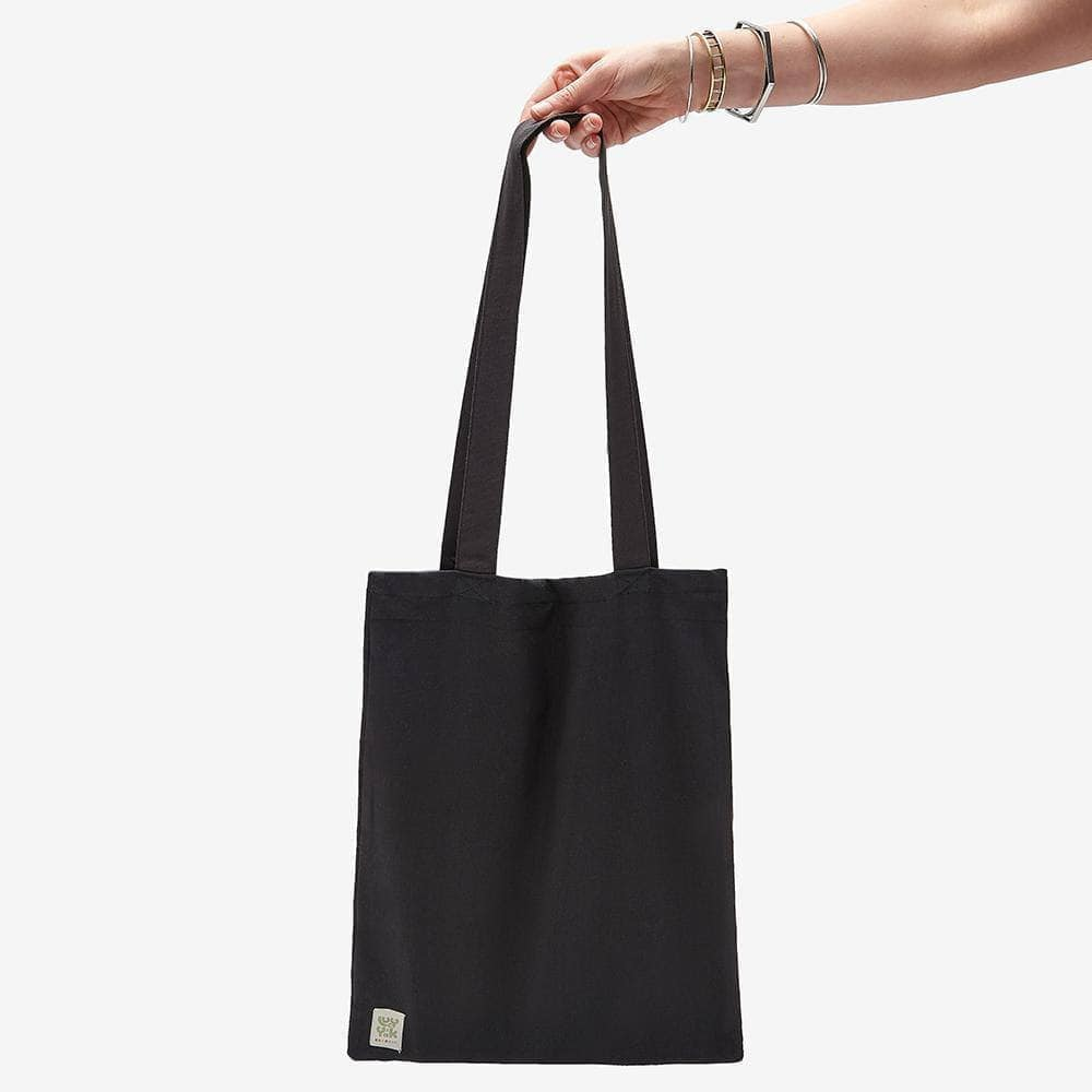 Lucy & Yak Bag ♻️'Idly' Recycled Organic Cotton Tote Bag in Black ♻️
