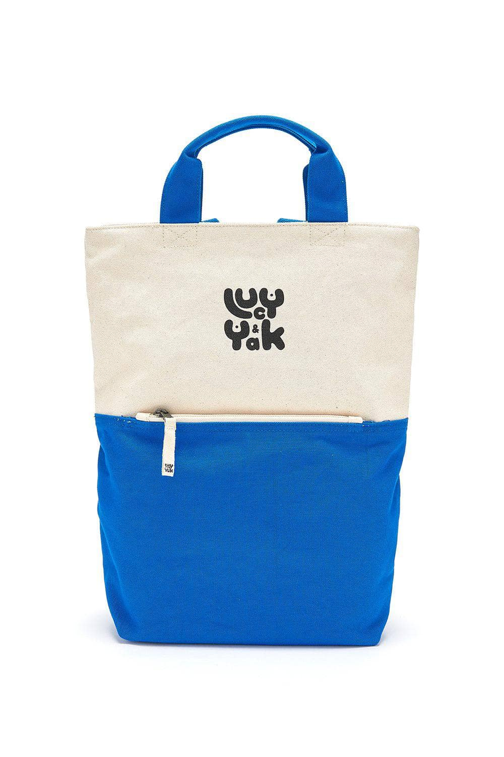 Lucy & Yak Bag 'Dylan' Organic Cotton Canvas Backpack in Blue
