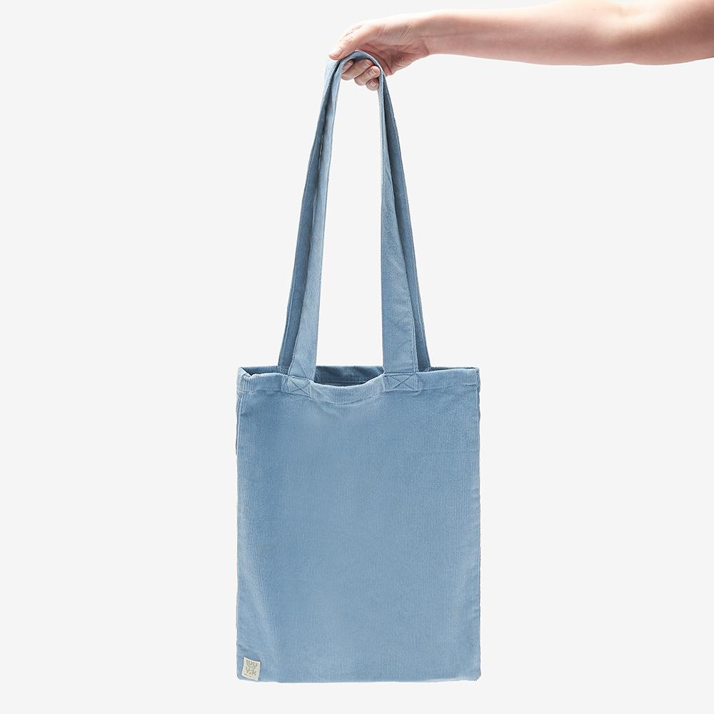 Lucy & Yak Bag ♻️'Idly' Recycled Corduroy Tote Bag in Ice Blue ♻️