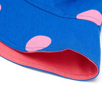 Lucy & Yak Bag Made in Britain - Travis Hat in Navy and Pink Polka Print