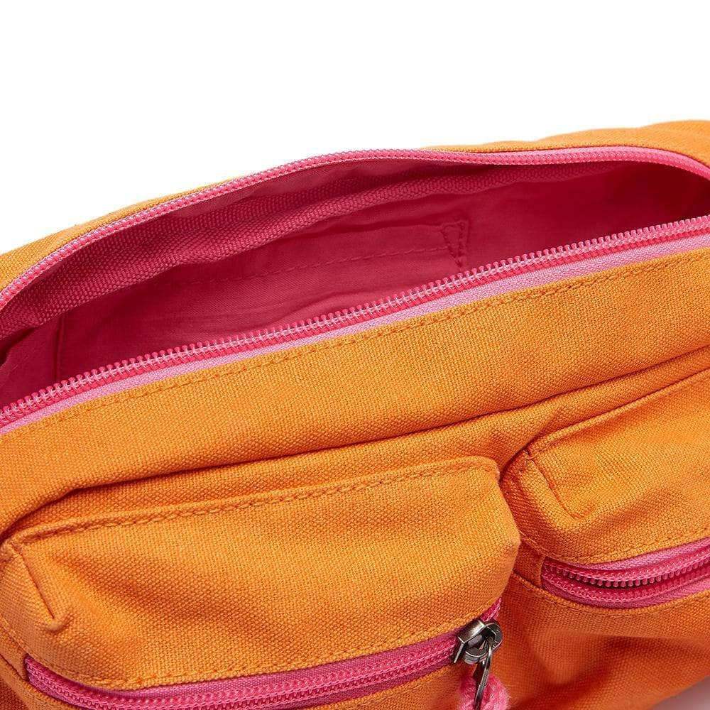 Lucy & Yak Bag Henley Giant Bumbag In Orange & Pink