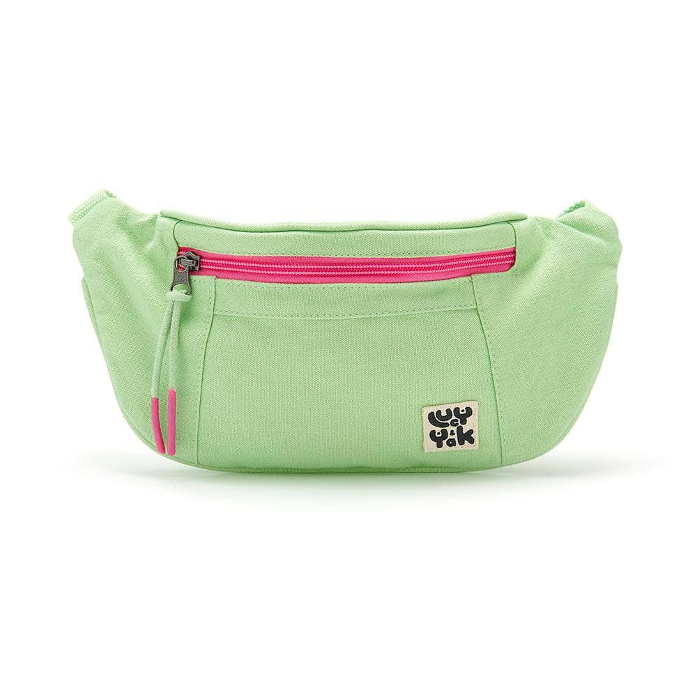 Lucy & Yak Bag Festival Bumbag in Mint Green with Pink Zip