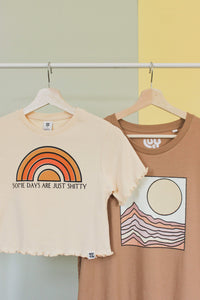 Lucy & Yak TOP Lodi - Tee in Dusted Clay with Desert Print by Real Fun Wow
