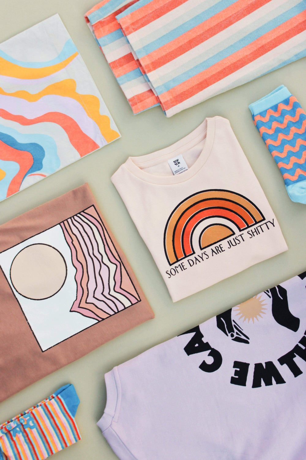 Lucy & Yak TOP The Sundaze Collection - 'Lodi' Tee in Dusted Clay with Desert Print by Real Fun Wow