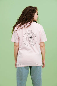 Lucy & Yak Tops Chandra Limited Edition Tee in Pink By Daphne Shen