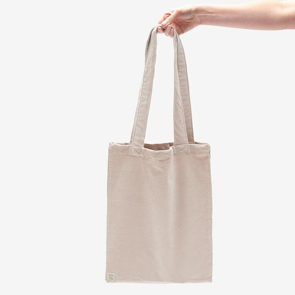 ♻️'Idly' Recycled Corduroy Tote Bag in Cream ♻️