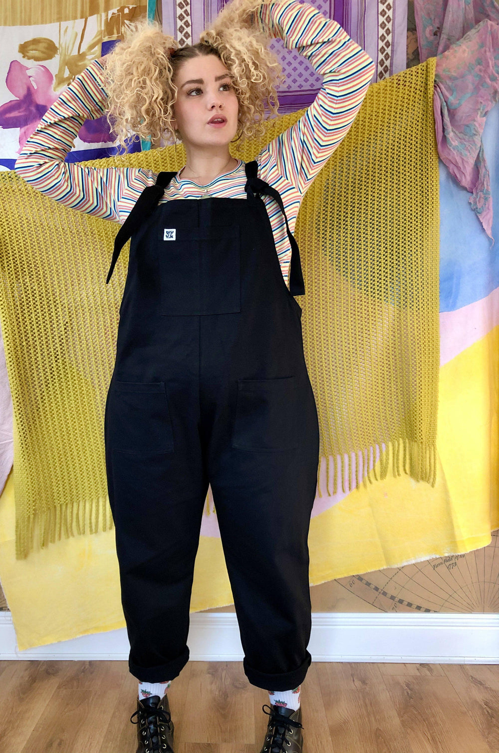 Lucy & Yak Dungarees Erro Heavy Twill Original Dungarees In Black