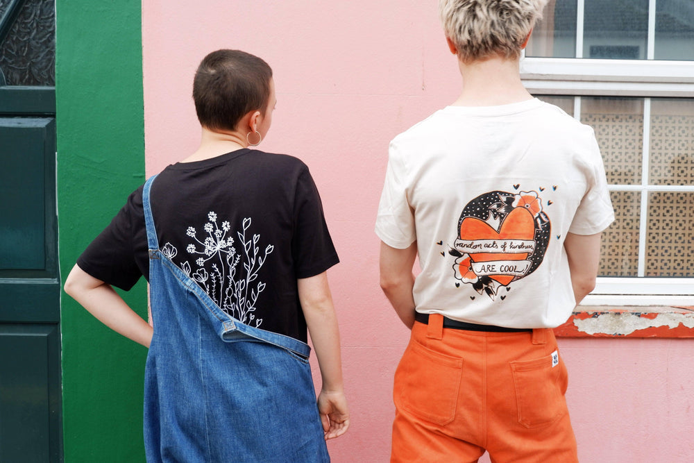 Lucy & Yak Tops 'Dominika' Limited Edition Screen Printed Flower T-Shirt By Dominika Moskal