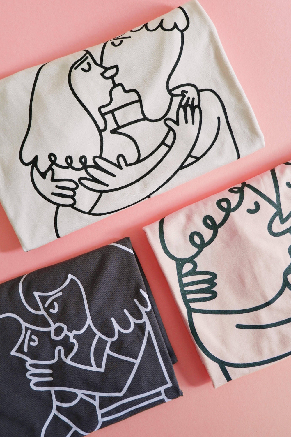 Lucy & Yak TOP 'Edie' Limited Edition Screen Printed T-Shirt By Natalie Byrne