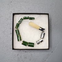 Lucy & Yak necklace Green Recycled Paintbrush Necklace by Zinc White