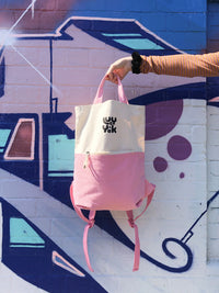 Lucy & Yak Bag 'Dylan' Backpack in Pink