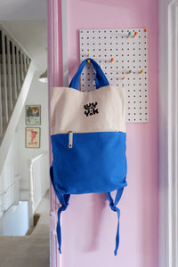 Lucy & Yak Bag 'Dylan' Backpack in Blue