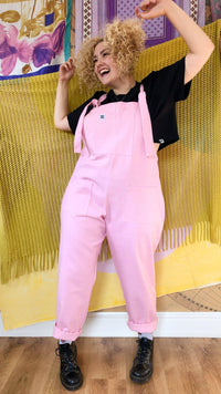 Lucy & Yak Dungarees Erro Heavy Twill Original Dungarees In Pink