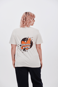Lucy & Yak Tops 'Gray' Limited Edition Screen Printed T-shirt By Bethany Wigmore